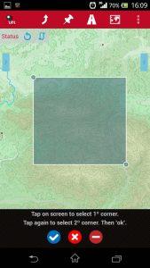 Orux Maps Area Selector